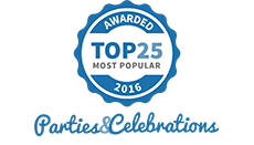 PartiesAndCelebrations Most Popular 2016 Award